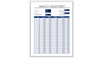 annuity investment calculator