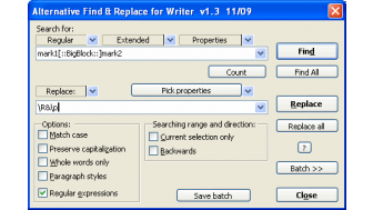 alternative dialog find replace for writer b1ead180 d038 4e11 a6b9 989f98082416