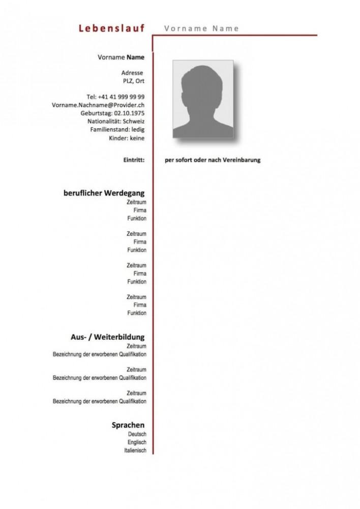 Tabellarischer Lebenslauf Muster Vorlagen 11