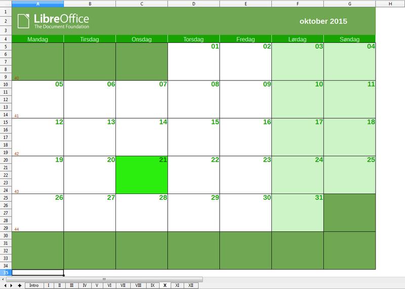 Libreoffice Calendario 2021 Extensions » Extensions